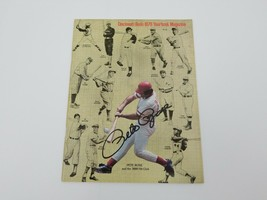 1978 Cincinnati Reds Yearbook Pete Rose Autograph Cover MLB Baseball 3000 Hits - $77.39