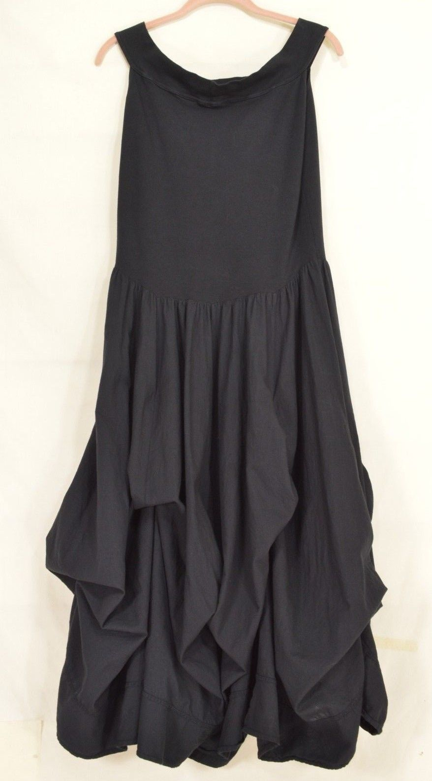 1 Luna Luz dress L black sleeveless balloon tie up parachute bottom full