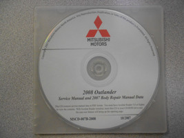 2008 2007 MITSUBISHI OUTLANDER Service Repair Manual CD BRAND NEW - $222.75
