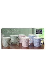 Mikasa Gourmet Basics 6 Stoneware Mugs 16 fl oz Each Dishwasher & Microw... - $23.69