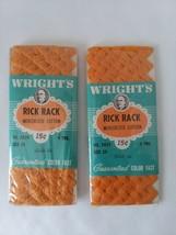 2 Wrights Rick Rack Trim Mercerized Cotton 4 Yds No. 7429 Size 29 Gold 46 - $4.74