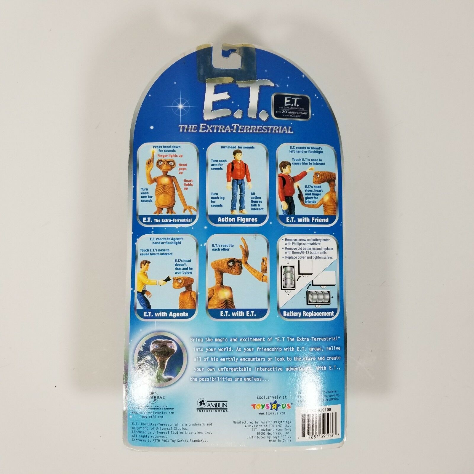 Toys R Us Exclusive E.T. The Extra-Terrestrial Interactive E.T. In Dress and Wig