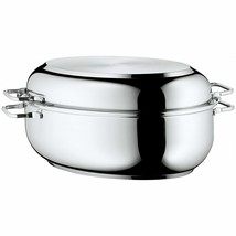 WMF Stainless Steel Deep Oval Roasting Pan, 16-1/4-Inch - $191.40