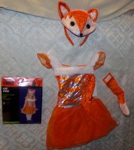 Totally Ghoul Lil Fox Costume Halloween Bambino 2 - 4t Nuovo Animale - $25.87
