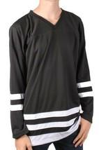 DOPE Couture Mens Basic Black & White Long Sleeve Hockey Jersey NWT image 1