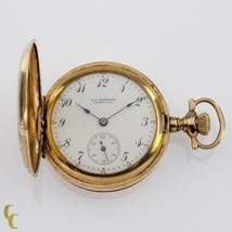 Gold Filled Women's Elgin Double Hunter Pocket Watch 7 Jewel Size 0S 1908 - $197.99