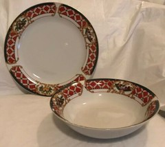Windsor Gibson China Serving Platter Chop Plate Vegetable Bowl Holiday R... - $29.69