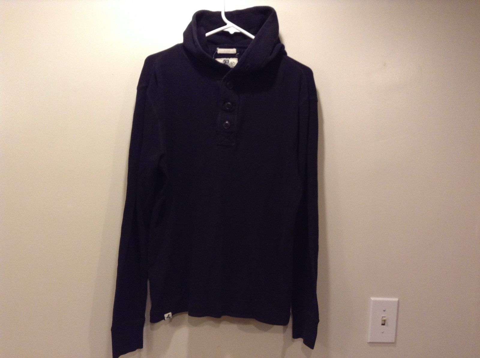 Club Room Men's Pullover Hooded Shirt Sz M