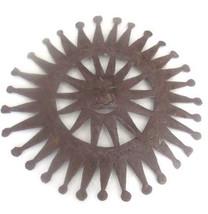 "Signed Ja, Nac, B. Handmade Recycled Metal ""SUN FACE"" Sculpture Haitian ... - $73.99"
