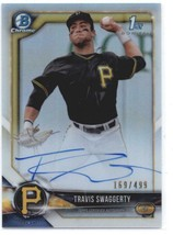 2018 Bowman Draft Chrome Autographs Refractors #CDA-TS Travis Swaggerty ... - $43.20