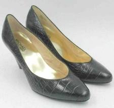 Michael Kors Women Slip On Cone Heel Pumps Size US 8.5M Black Leather Al... - $21.94