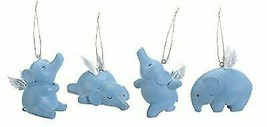 Ebros Gift Flying Elephants Elena Set of 4 Hanging Ornaments Decorations... - $29.99