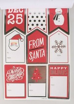 4 packs (240) Xmas Christmas Gift Tags Presents Wrapping Peel and Stick To From image 2
