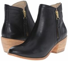 "NEW 1883 by Wolverine Women's Ella Black Leather 5"" Side Zip Ankle Booties NIB image 7"
