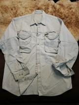 Vintage Columbia PFG OutDoor Sport Large Khaki Long Sleeve Shirt Fishing Mens L - $55.43