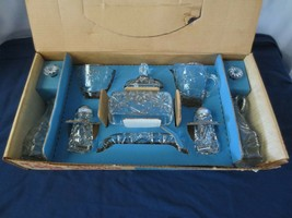 Vtg Early American Prescut 11 Pc Table Service Star of David Butter crea... - $65.00