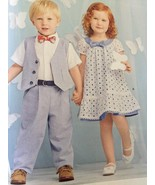 Simplicity Sewing Pattern 1206 Boys Girl Toddlers Dress Vest Pants Size ... - $14.77