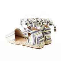layout linen tie ankle espadrille flat sandal image 4