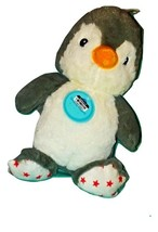 Cloud B Dreamy Hugginz Penguin Plush Stuffed Animal Toy Lovey Red Stars ... - $15.00