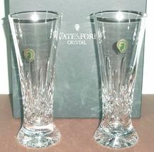 "Waterford Crystal Lismore Pilsner Beer Set of 2 Glasses 8.25""H #142050 New - $158.90"