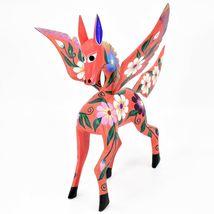 Handmade Alebrijes Oaxacan Wood Carving Painted Folk Art Pegasus Large Figure image 3