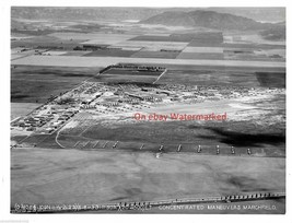 US ArmyMarchfield California Airport & Surrounding 1933 Air Photograph a... - $9.50