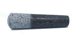 Kota Japan Large Black Granite Mortar & Pestle Natural Stone Grinder for Spices, image 6