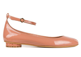 Salvatore Ferragamo Womens Blush Patent Leather Cefalu Flats Sz US10.5C~... - $375.25