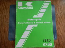 1983 83 Kawasaki KX60 KX60-A1 Kx 60 KX60A1 Owner's Owner Service Manual #3 - $9.94