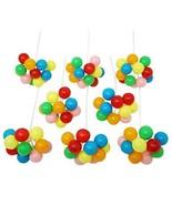 Multi-color Plastic Balloon Clusters Birthday Picks, Cake Decoration Fav... - $12.99