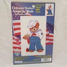 Sailor Cherished Teddies Around the World Cross Stitch Kit 1999 Bob USA ... - $14.89