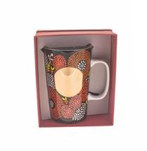 Starbucks Floral Gold Bloom Ceramic Mermaid Mug Cup Handle 16oz Brown DOT - $31.18