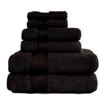 Black 100% Turkish Long Staple Cotton 800 GSM 2 Bath, 2 hand, 2 Face Tow... - $54.95