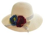 Adies women casual solid wide brimmed floppy foldable straw beach hat women summer thumb155 crop