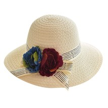 Straw Hat Summer Ladies Women Casual Solid Wide Brimmed Floppy Foldable ... - $13.77