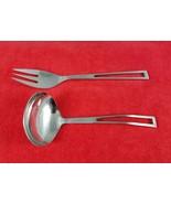Dinner Fork Gravy Ladle Aperto Supreme Cutlery Towle Japan Stainless Fla... - $24.75