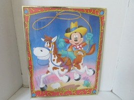DISNEY MICKEY MOUSE PAPER POSTER PRINT FRAMED GIDDY UP! 1990'S  16 X 20 - $8.86