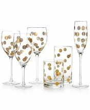 kate spade new york Pearl Place Goblet, white wine, flute, iced beverage... - $197.01