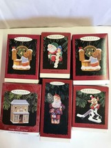 Lot 6 Asst Hallmark Keepsake Christmas Ornaments collectible Santa mouse... - $17.81