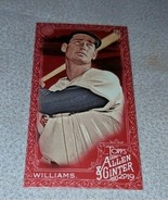 2019 Topps Allen & Ginter X Rouge Mini Parallèle Ted Williams Rouge Sox ... - $144.10