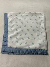 Gymboree Outlet Blue White Dash Line Baby Blanket Satin Binding 2018 - $29.99