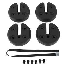 4pcs Tent Shade Canopy Water Fillable Weight Plates Black - $19.60