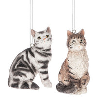 Tabby Cat Ornament - $12.95