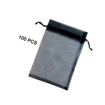 4 X 6Inches 100 Pack Black Za Gift Bags Wedding Party Favor Bags Jewelry... - $17.99