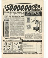1947 Ad Vintage The Fiction Book Club &50,000 Cash Must be Won! - $8.99
