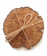 Table Placemat Cup Pad Stump Natural Cork Coaster Drink Cover 8pcs/Set ds2 - $17.85