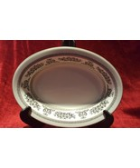 "Wedgwood China Columbia Black 10"" Oval Serving Bowl - $69.29"