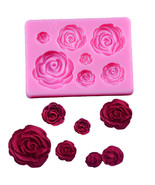 3D Rose Flower Fondant Silicone Mold Cake Chocolate Candy Baking Moulds - $9.50