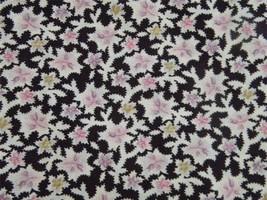 Vintage Eggplant Purple General Fabrics Company Calico Floral 1 1/2 Yard... - ₨520.58 INR