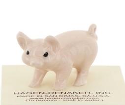 Hagen Renaker Miniature Farm Pig Pink Walking Ceramic Figurine image 2